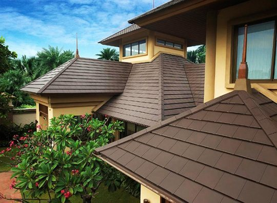 Prestige flat two tone modern roofing center for Flat tile roof