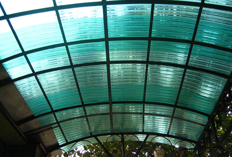 Polycarbonate Embossed Corrugated Modern Roofing Center